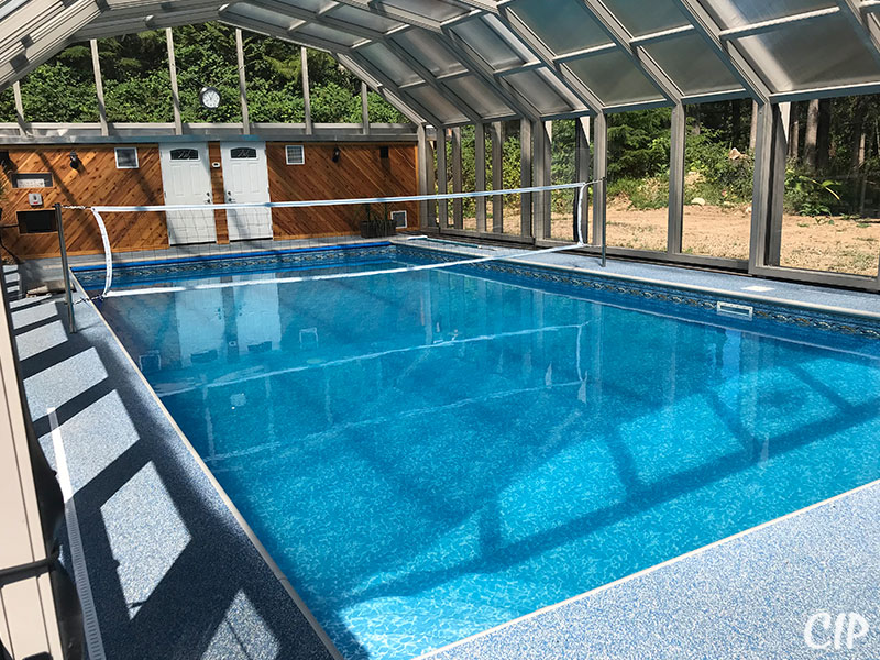 Retractable Pool Enclosure closed for the bugs USA