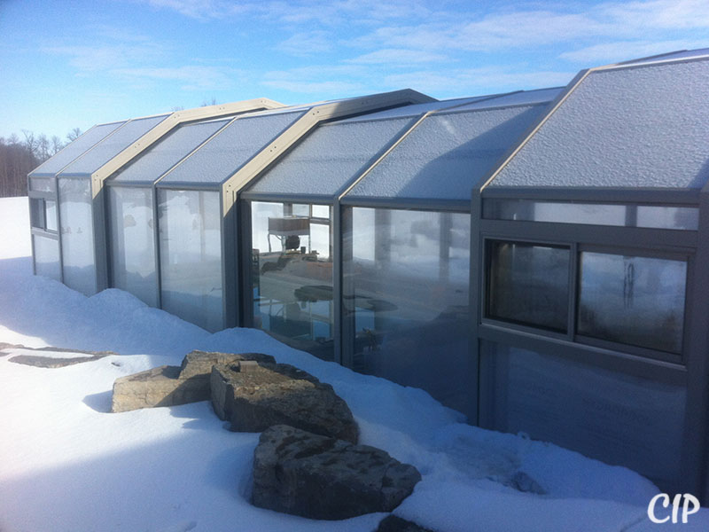 Retractable Pool Enclosure in winter USA